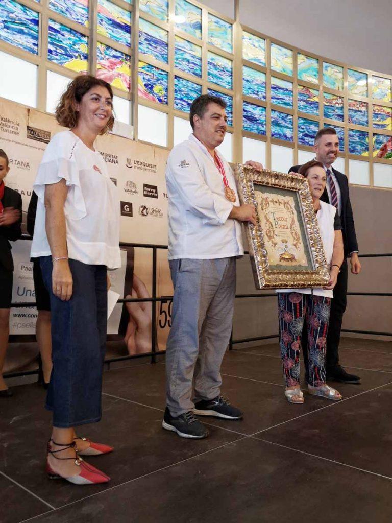 Tercer premio del concurso internacional de paellas de Sueca para el Racó de Meliana